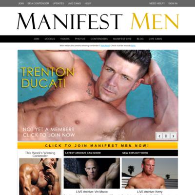 manifest men muscle model bodybuilders nude