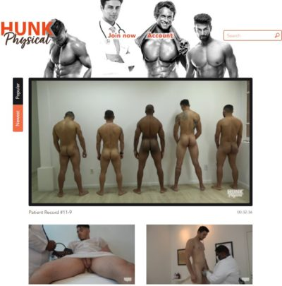 hunk physicals naked male medical exams fetish videos